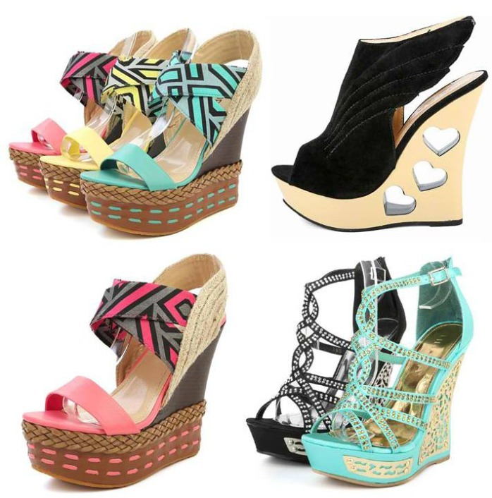 decorated wedges