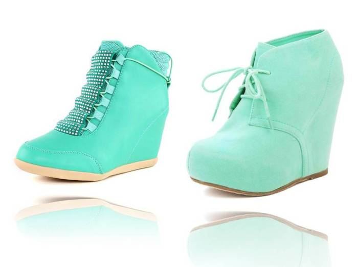 Mint Green Ankle Boots