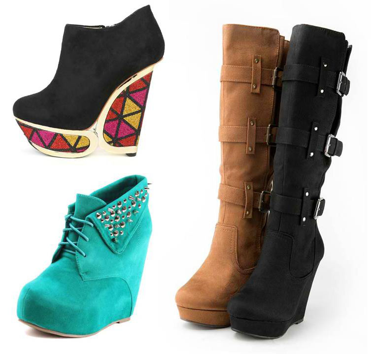 wedge boots miss sassy