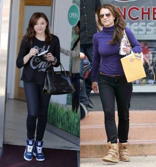 celebrities wearing wedge sneakers