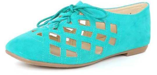 Cutout Laced Up Casual Shoes