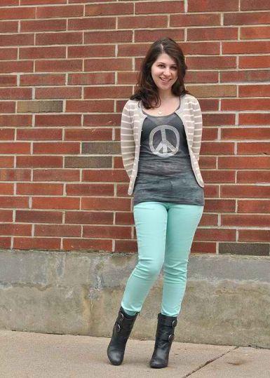 footwear for mint green jeans