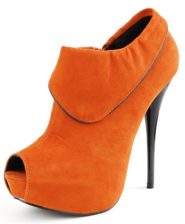 bright-orange-ankle-booties