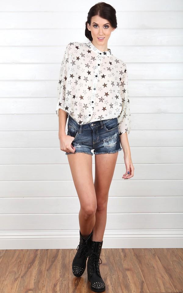 denim shorts | Miss Sassy Girl